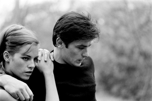 Nathalie and Alain Delon